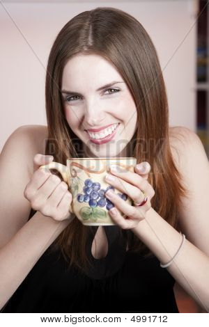 Pretty Woman With Mug