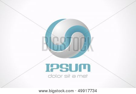 Infinite abstract vector logo template for cosmetics, medicine, pharmacy. Technology concept icon.
