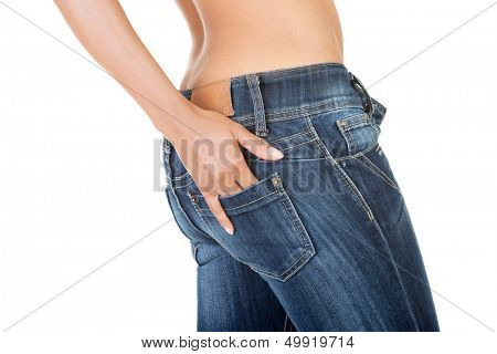 Fit female butt in jeans