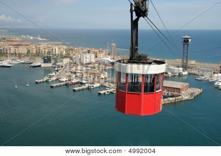 Cablecar In Barcelona, Spain