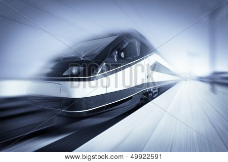Train In Motion, Monochromatic