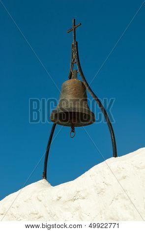 Ancient Bronze Bell In Tsambika Monastery