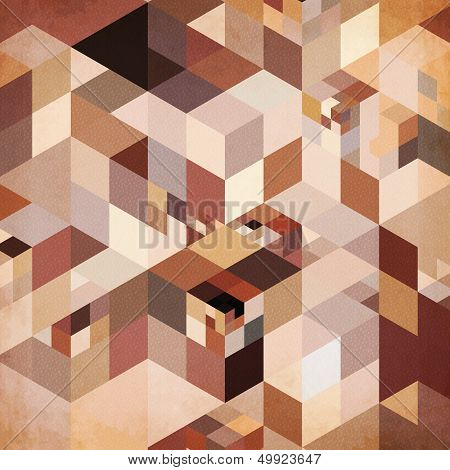 Abstract geometry vector brown background