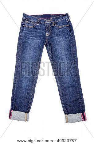 Capri Blue Jeans Isolated