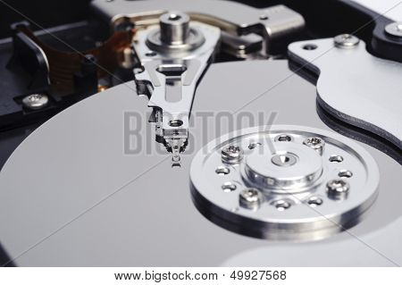 Open Harddisk Close Up