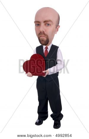Man With Valentine Heart