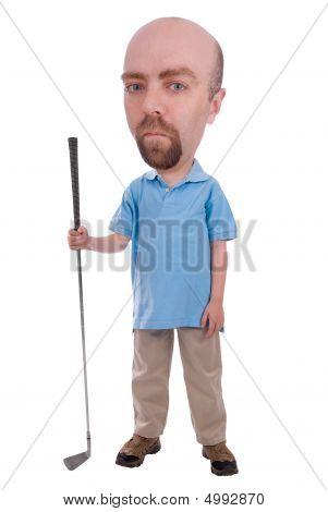 Mann, hält einen Golf club