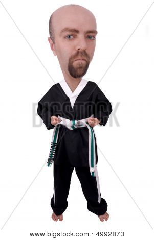 Man Wearing Karate Outfit