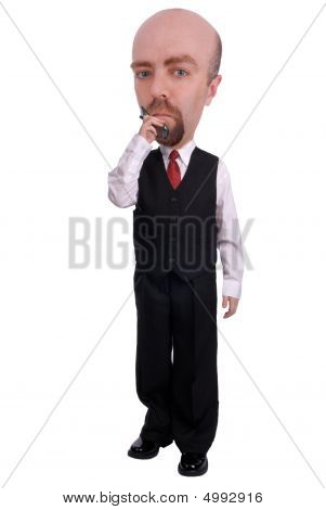 Businessman On A Cell Phone