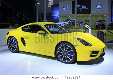 New Concept Yellow Porsche Cars In A Car Sales Shop, Tangshan, China