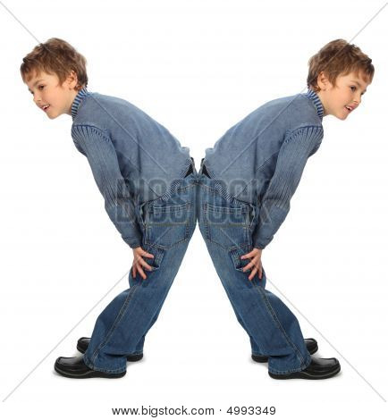 Boy Represent  Letter X