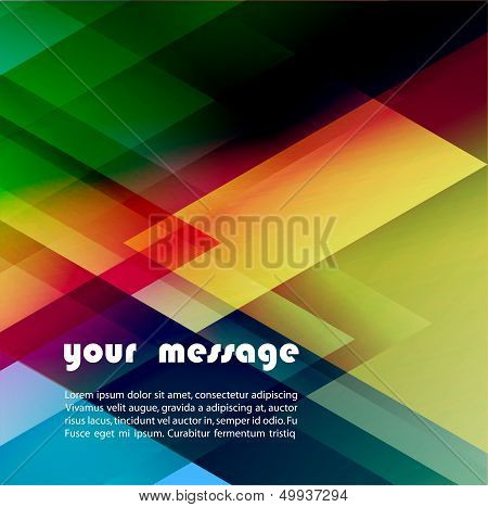 Abstract colorful vector template geometric background