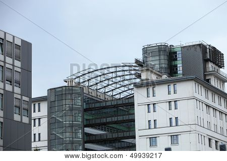 Modern Building With Skywalks