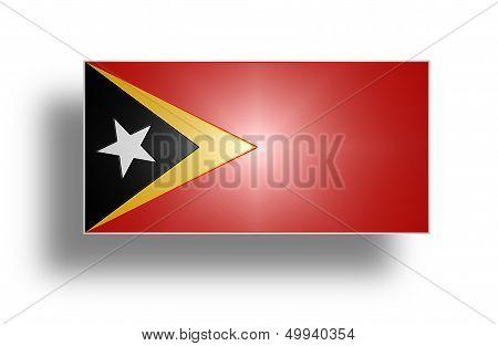 Flag Of East Timor (stylized I).