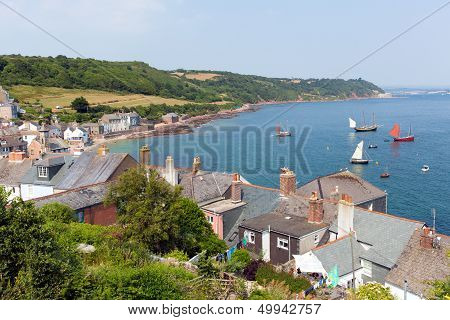 View of Cawsand and Kingsand coast Cornwall England United Kingdom