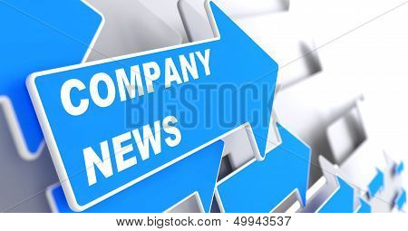 Company News. Information Concept.