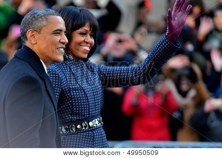 U.S. President Barack Obama - Michelle Obama - 2013 Presidential Inauguration Day
