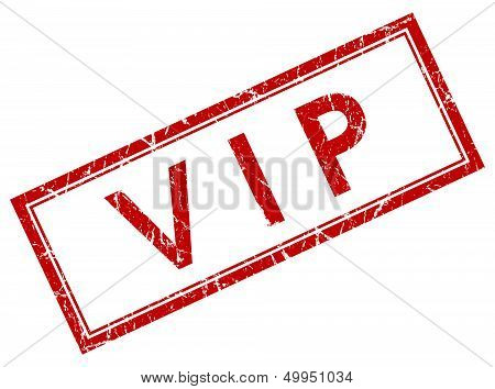 Vip Red Square Stamp