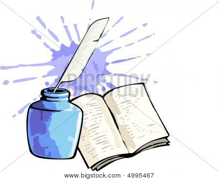 Book And Inkpot
