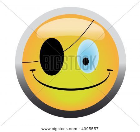 Pirate Smile Button