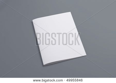 Blank Closed Magazine Isolated On Grey