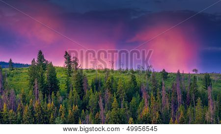 Red Clouds In The Tetons