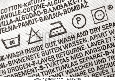Laundry Advice Clothing Tag