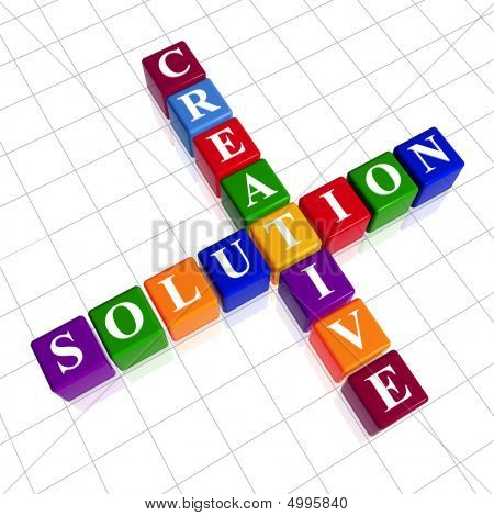 Color Creative Solution Like Crossword
