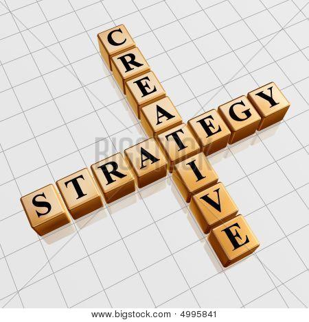 Golden Creative Strategy Like Crossword