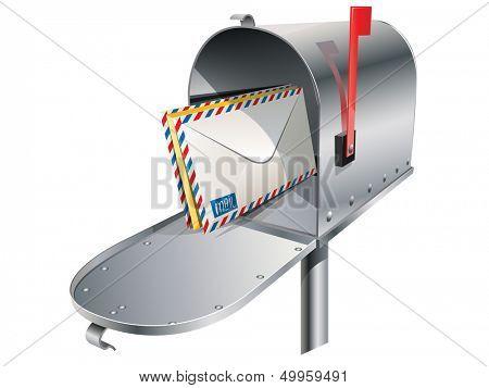 vector metal mailbox