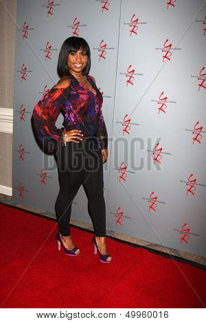 LOS ANGELES - AUG 24:  Angell Conwell at the Young & Restless Fan Club Dinner at the Universal Sheraton Hotel on August 24, 2013 in Los Angeles, CA