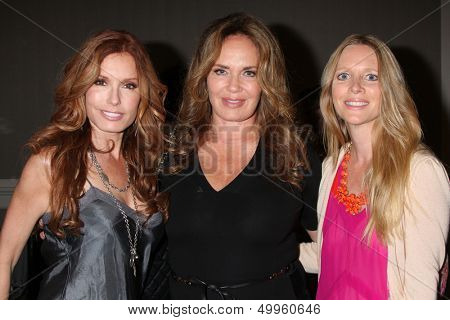 LOS ANGELES - AUG 24:  Tracey Bregman, Catherine Bach, Lauralee Bell at the Young & Restless Fan Club Dinner at the Universal Sheraton Hotel on August 24, 2013 in Los Angeles, CA