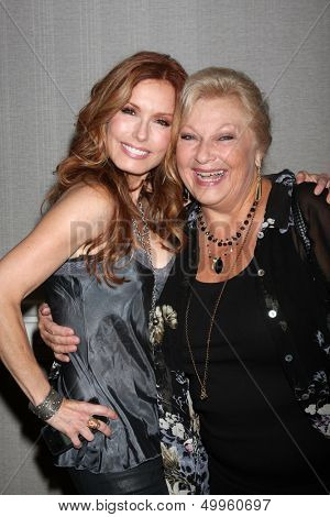 LOS ANGELES - AUG 24:  Tracey E. Bregman, Beth Maitland at the Young & Restless Fan Club Dinner at the Universal Sheraton Hotel on August 24, 2013 in Los Angeles, CA