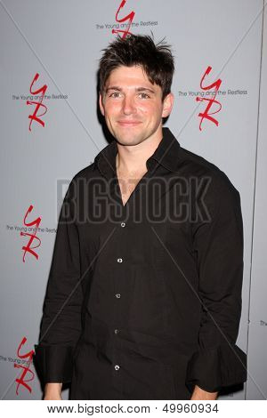 LOS ANGELES - AUG 24:  Robert Adamson at the Young & Restless Fan Club Dinner at the Universal Sheraton Hotel on August 24, 2013 in Los Angeles, CA