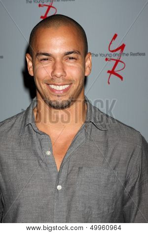 LOS ANGELES - AUG 24:  Bryton James at the Young & Restless Fan Club Dinner at the Universal Sheraton Hotel on August 24, 2013 in Los Angeles, CA