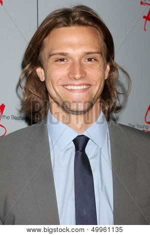 LOS ANGELES - AUG 24:  Hartley Sawyer at the Young & Restless Fan Club Dinner at the Universal Sheraton Hotel on August 24, 2013 in Los Angeles, CA