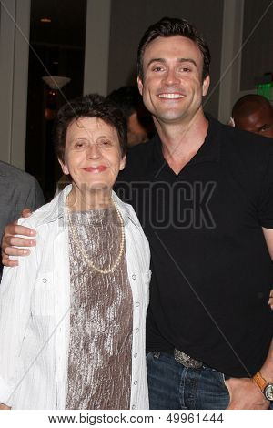LOS ANGELES - AUG 24:  Daniel Goddard, Mom at the Young & Restless Fan Club Dinner at the Universal Sheraton Hotel on August 24, 2013 in Los Angeles, CA