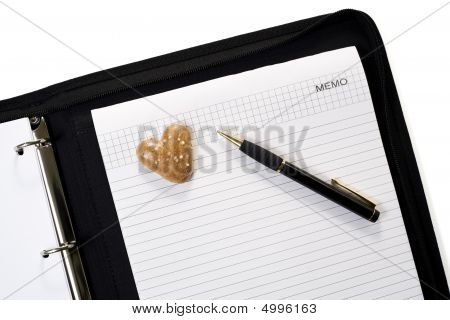 Gingerbread Heart On Business Folder