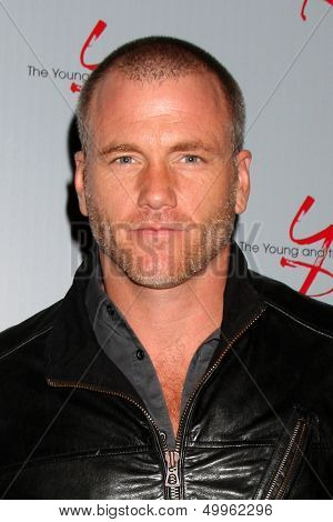 LOS ANGELES - AUG 24:  Sean Carrigan at the Young & Restless Fan Club Dinner at the Universal Sheraton Hotel on August 24, 2013 in Los Angeles, CA