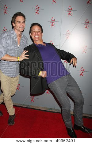 LOS ANGELES - AUG 24:  Greg Rikaart, Christian LeBlanc at the Young & Restless Fan Club Dinner at the Universal Sheraton Hotel on August 24, 2013 in Los Angeles, CA