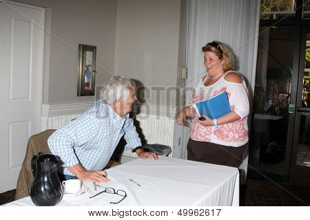 LOS ANGELES - AUG 24:  John McCook, Fan at the Bold n Beautiful QnA and Autograph Event  at the Universal Sheraton Hotel on August 24, 2013 in Los Angeles, CA