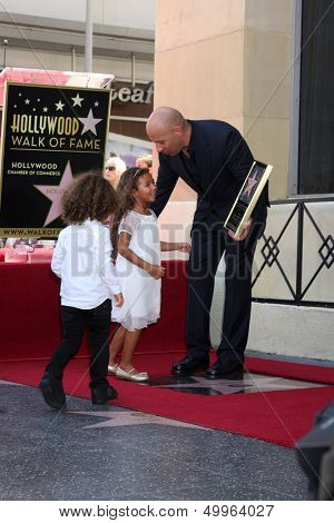 SLOS ANGELES - AUG 26:  Hania Riley Diesel, Vin Diesel, Vincent Diesel at the Vin DIesel Walk of Fame Star Ceremony at the Roosevelt Hotel on August 26, 2013 in Los Angeles, CA