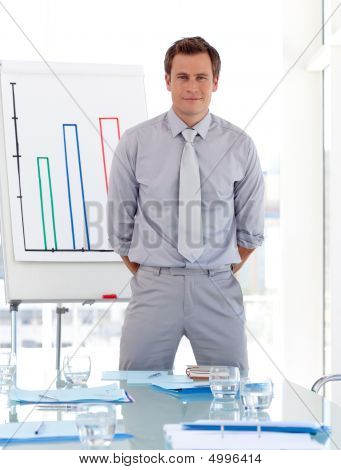 Business Teacher Standing In Front Of A Class