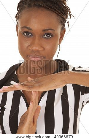 Referee Woman Very Close Time Out