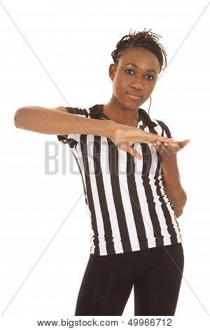 Referee Woman Making Sign