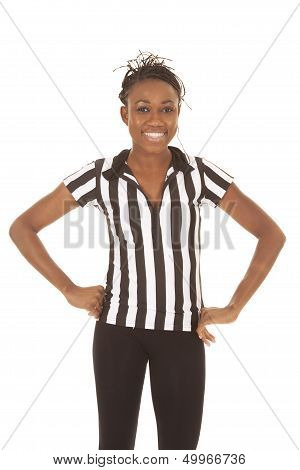 Referee Woman Standing Hands On Hips