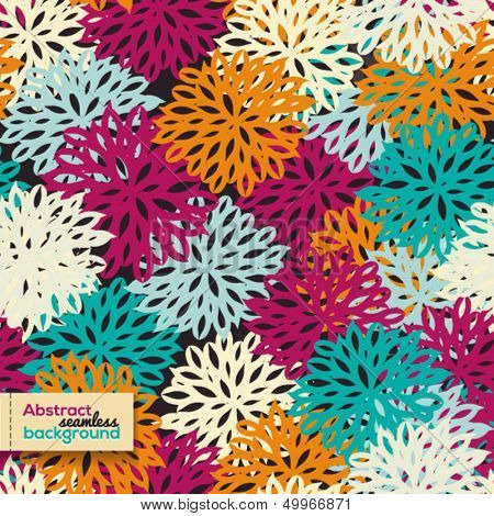 Abstract seamless bright pattern with flowers