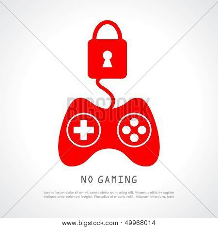 No gaming vector poster