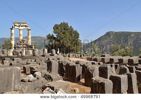 Rural Greek Delphi Temple