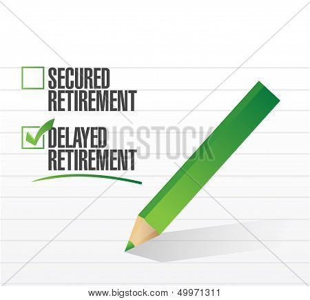 Delayed Retirement Selected With A Check Mark.